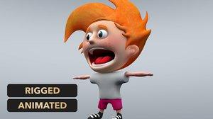 cartoon little boy model