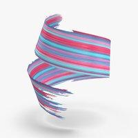 3d-paintbrush-strokes---v1-red-blue 3D model