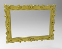 3D frame mirror carving