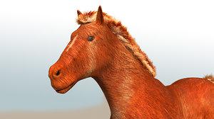 3D model horse walking