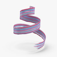 3d-paintbrush-strokes---v2-red-blue 3D model