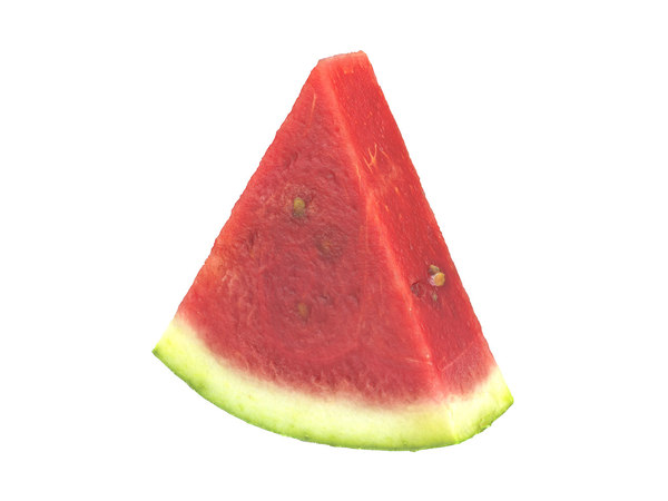 3D photorealistic scanned watermelon slice