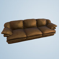 Couch Sofa Game Model Low Poly