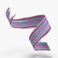 3D 3d-paintbrush-strokes---v3-red-blue