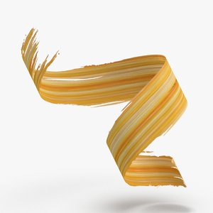 3d-paintbrush-strokes---v3-yellow-orange 3D
