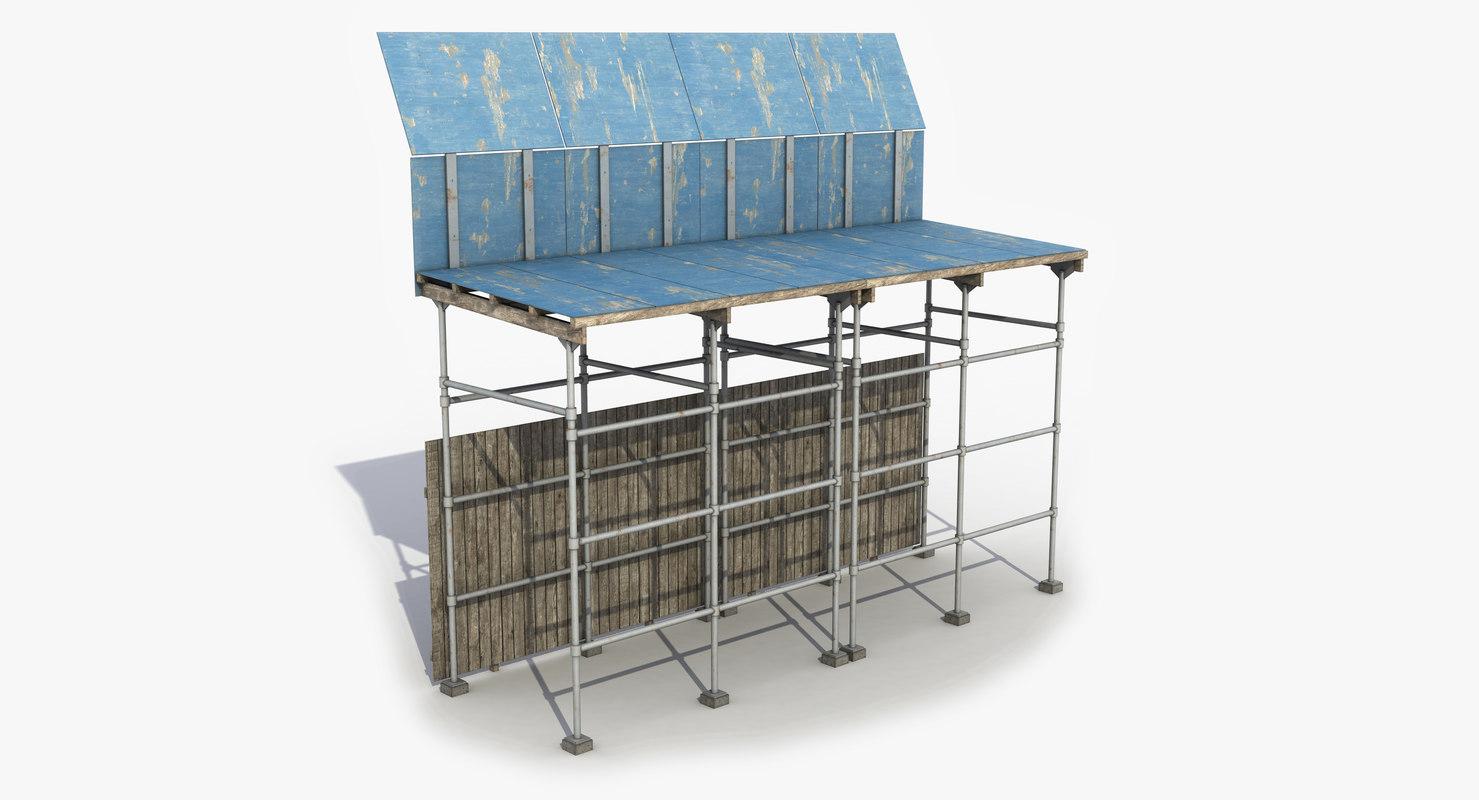 3D model scaffolding sideway