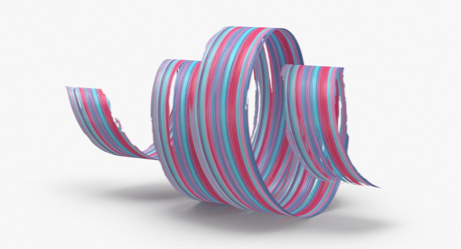 3D 3d-paintbrush-strokes---v4-red-blue