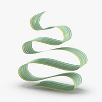 3d-paintbrush-strokes---v5-teal-yellow 3D