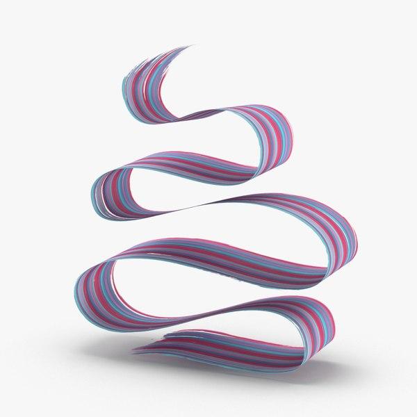 3d-paintbrush-strokes---v5-red-blue 3D model