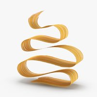 3D 3d-paintbrush-strokes---v5-yellow-orange