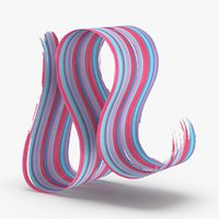 3d-paintbrush-strokes---v7-red-blue 3D model