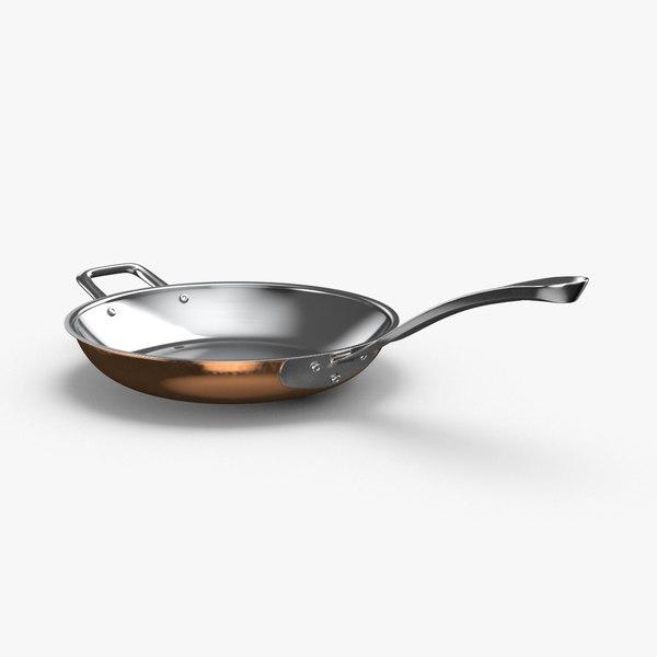 kitchen-pan-rack-02---pan-01 3D