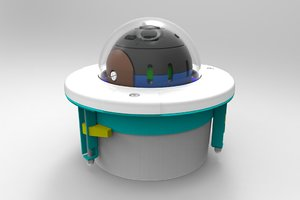 3D model pan ptz security camera