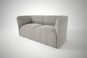 3D model furnishings sofa