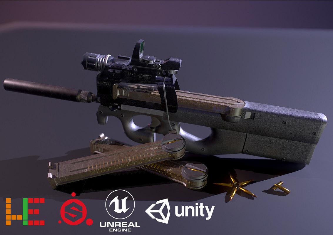 unity metallic 3D model