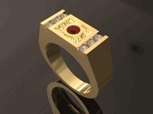 3D gents ring