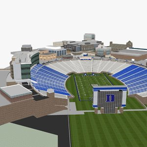 3D model wallace wade stadium