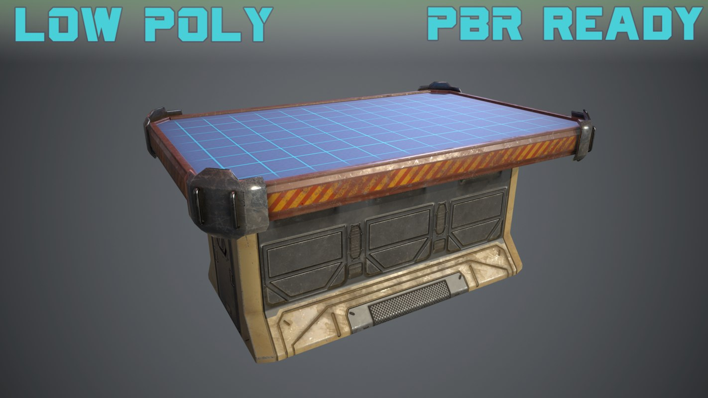 old sci-fi table 3D