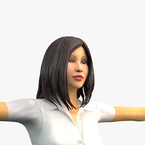 people animation rigging 3D model