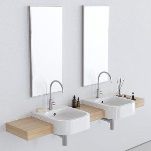 3D 40d washbasin model