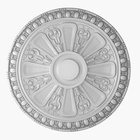 rose ceiling medallion m101 3D model