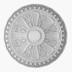 rose ceiling medallion m101 3D model