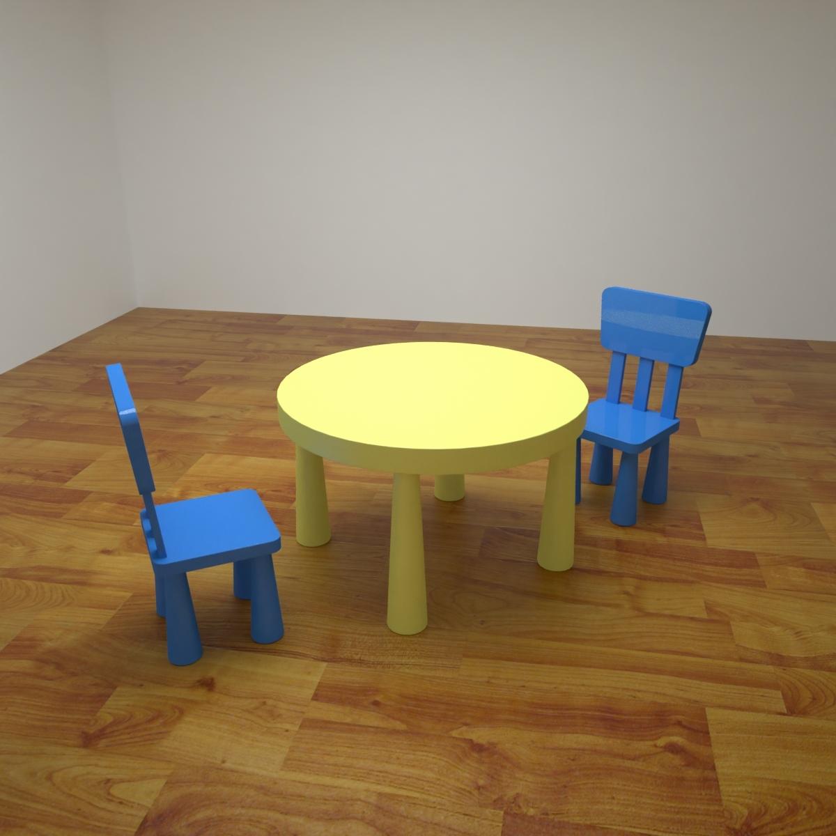 Modele 3d De Table Pour Enfants Ikea 1 Turbosquid 1315391