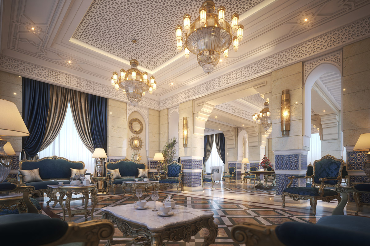 Moroccan Style Living Dining Room 3D Model