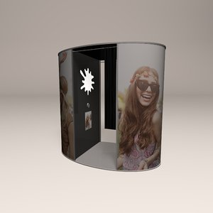 promotional photo booth 3D model
