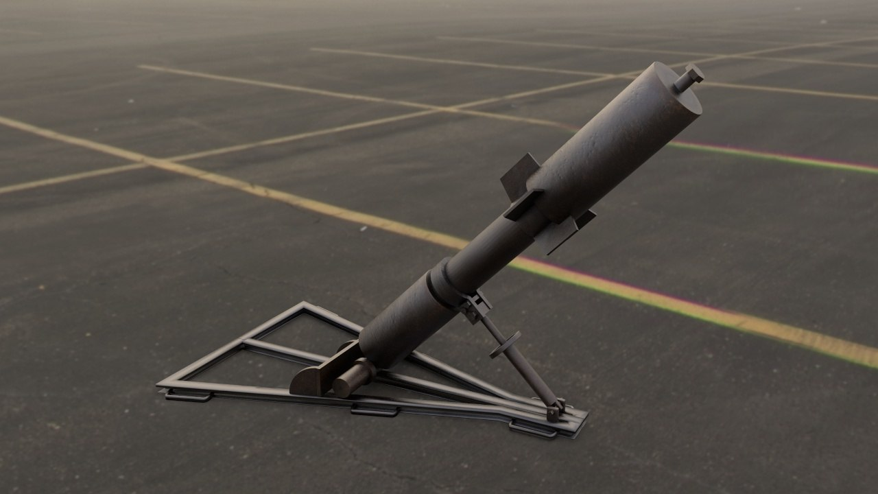 3D davidka little david mortar