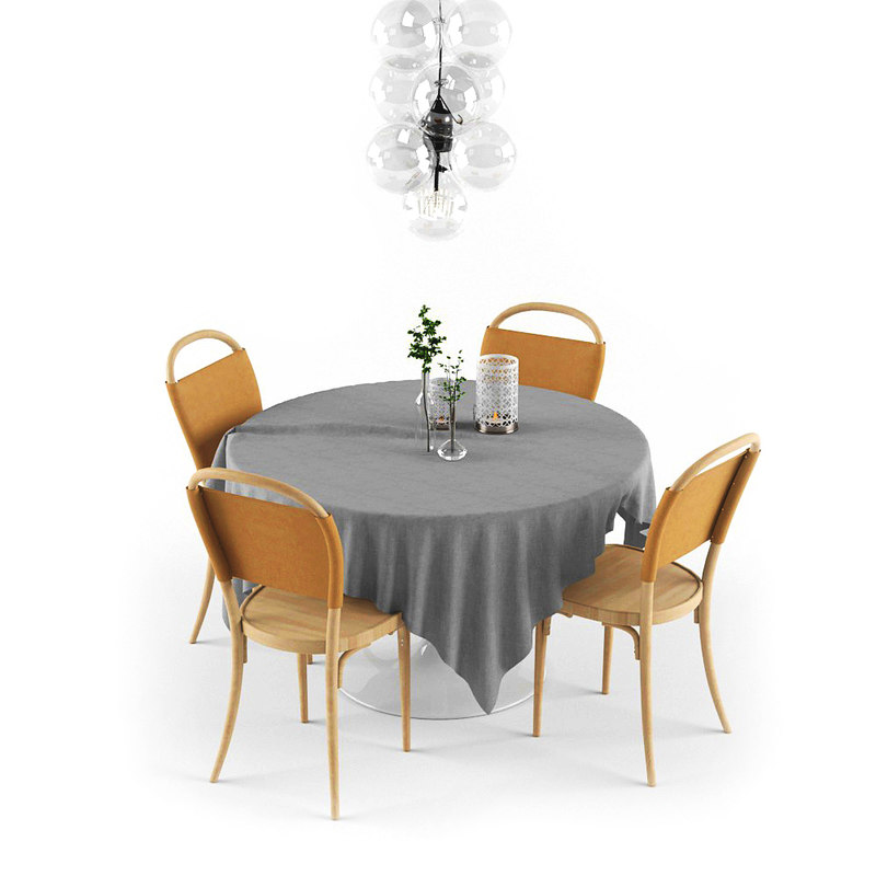 3D table dining set
