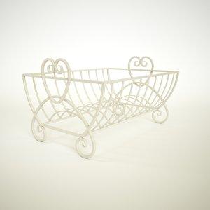 cream heart dish drainer 3D model