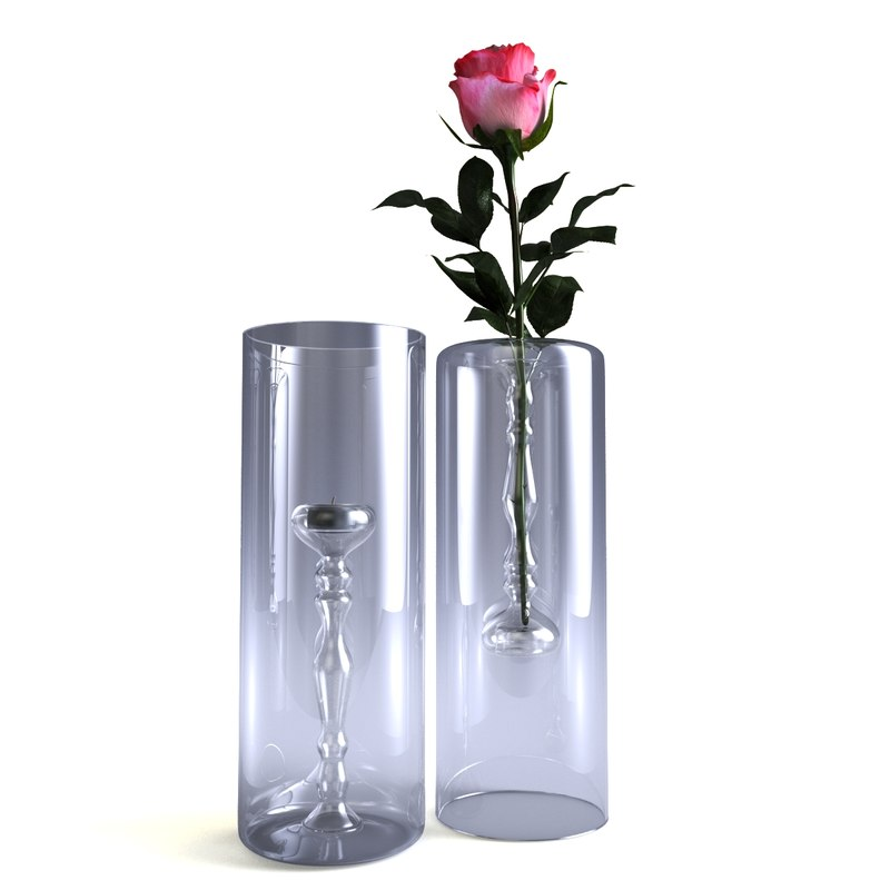 glass candle holder - 3D model