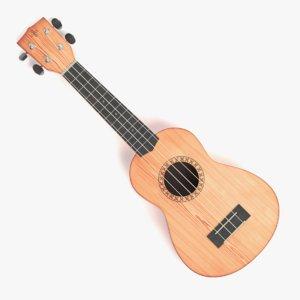 3D ukulele soprano pbr