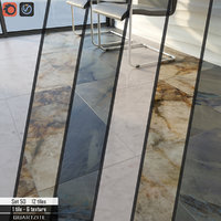 3D tile stone set 50 model