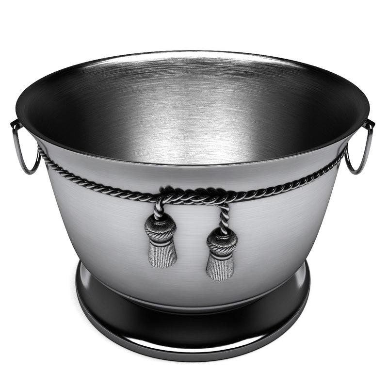 3D ice bucket tie knot model