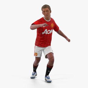 3D soccer football player united model