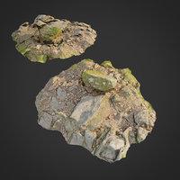ground stones d 3D