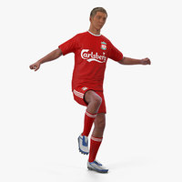 Soccer or Football Player Liverpool Rigged 3D Model