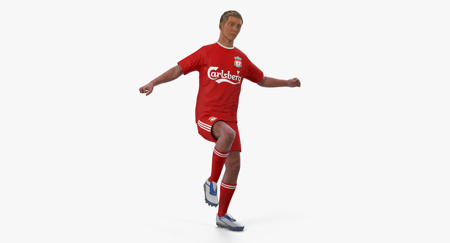 3D model soccer football player liverpool