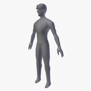 base mesh humanoid male character 3D model