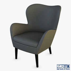 3D arc armchair model