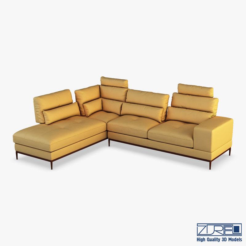 avocado sofa 3D