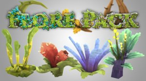 3D pack natural plants