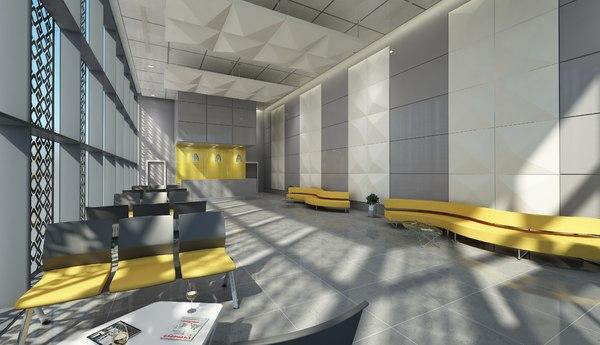 modern lobby desing 3D model