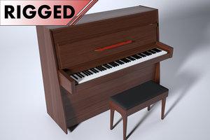 upright piano 3D model