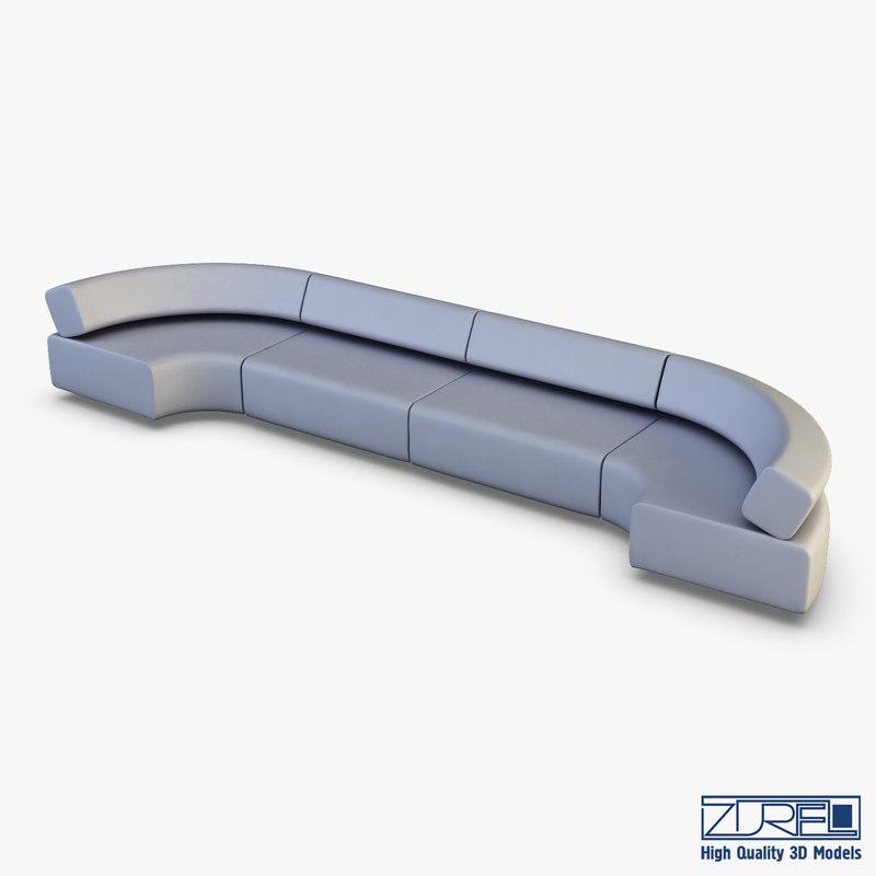 3D model atollo sofa v 2