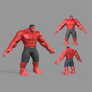 3D hulk model