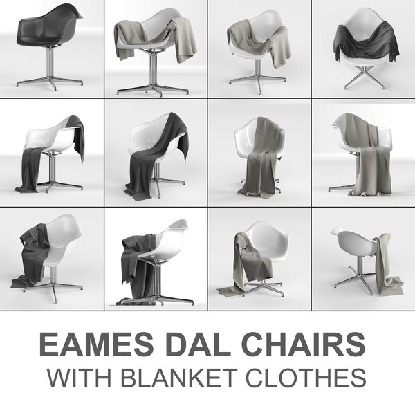 vitra eames chair: plastic 3D model