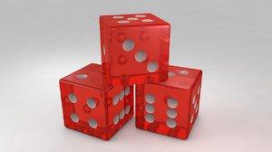 red dies 3D model